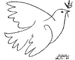 Weiße Friedenstaube